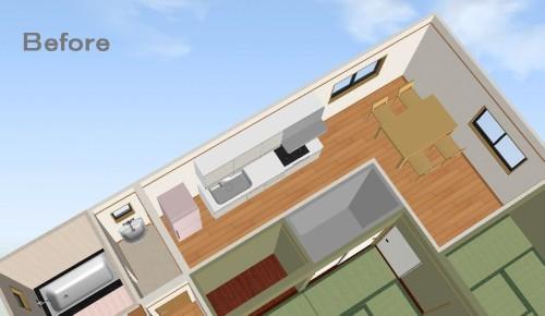 3D間取り図(施工前)©八重洲技建