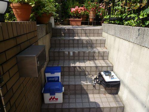 工事前の高い段差の階段