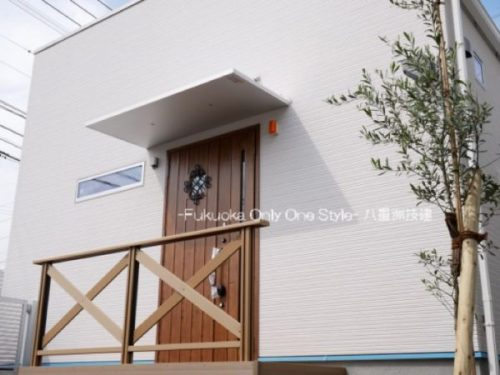 シンプルデザインの平屋(北九州市内施工事例)©八重洲技建