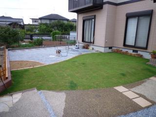 9月10日(金) 庭リフォーム パター練習コーナー 北九州市小倉南区