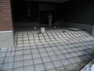 4月8日(金)北九州市八幡西区 新築外構ガレージ 敷石・石貼り竣工までの工程まとめ