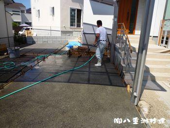 8月4日(水)新築外構 洗い出し舗装